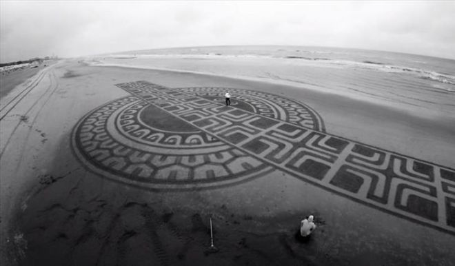 Most Beautiful Sand Art On The Beach