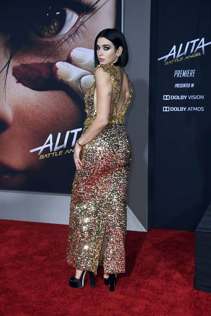 Dua Lipa Glams Up The Premiere Of 'Alita: Battle Angel' In LA