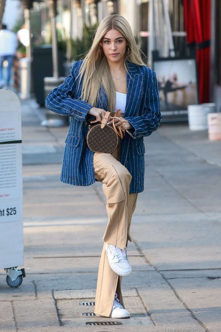 Madison Beer Candids Outside Cafe Gratitude In Los Angeles