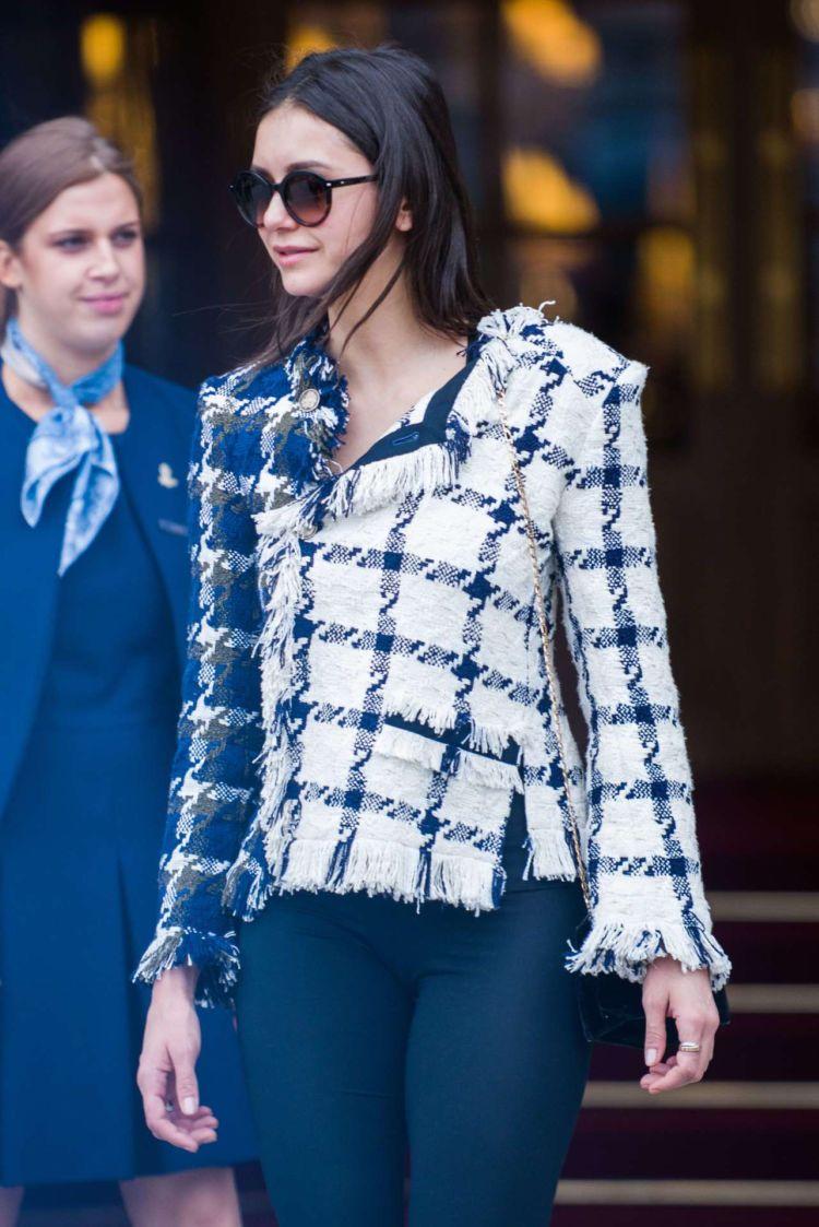 Pretty Nina Dobrev Leaving Ritz Hotel In Paris
