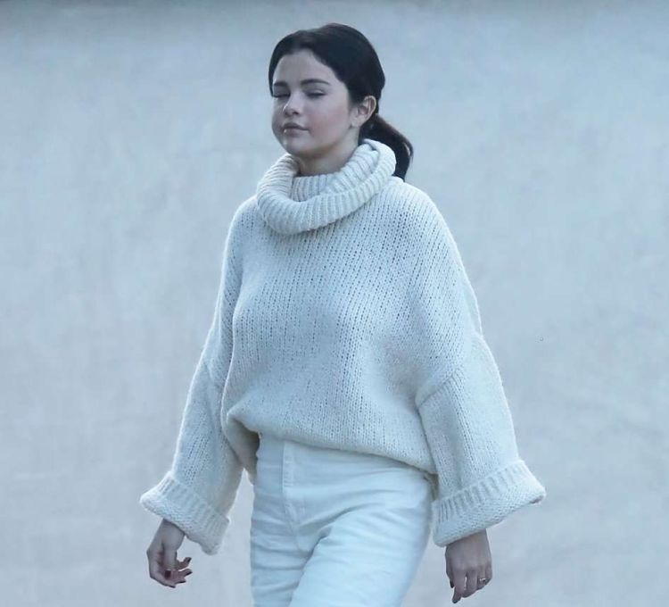 Selena Gomez Candids In A White Outfit In Los Angeles