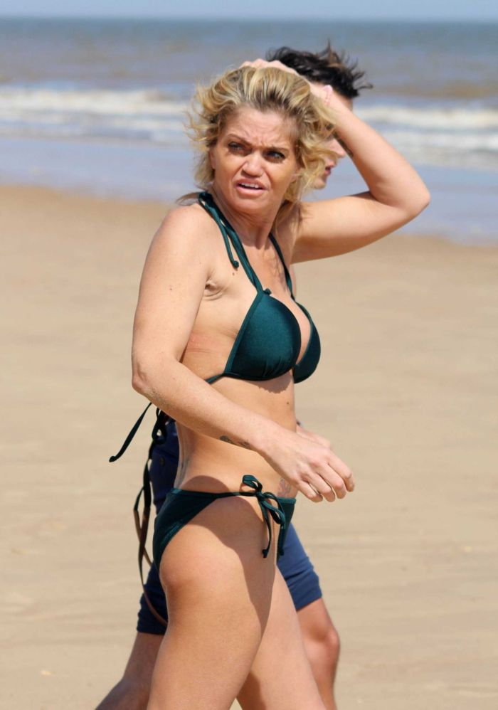 Danniella Westbrook Spotted In A Green Bikini At The Beach