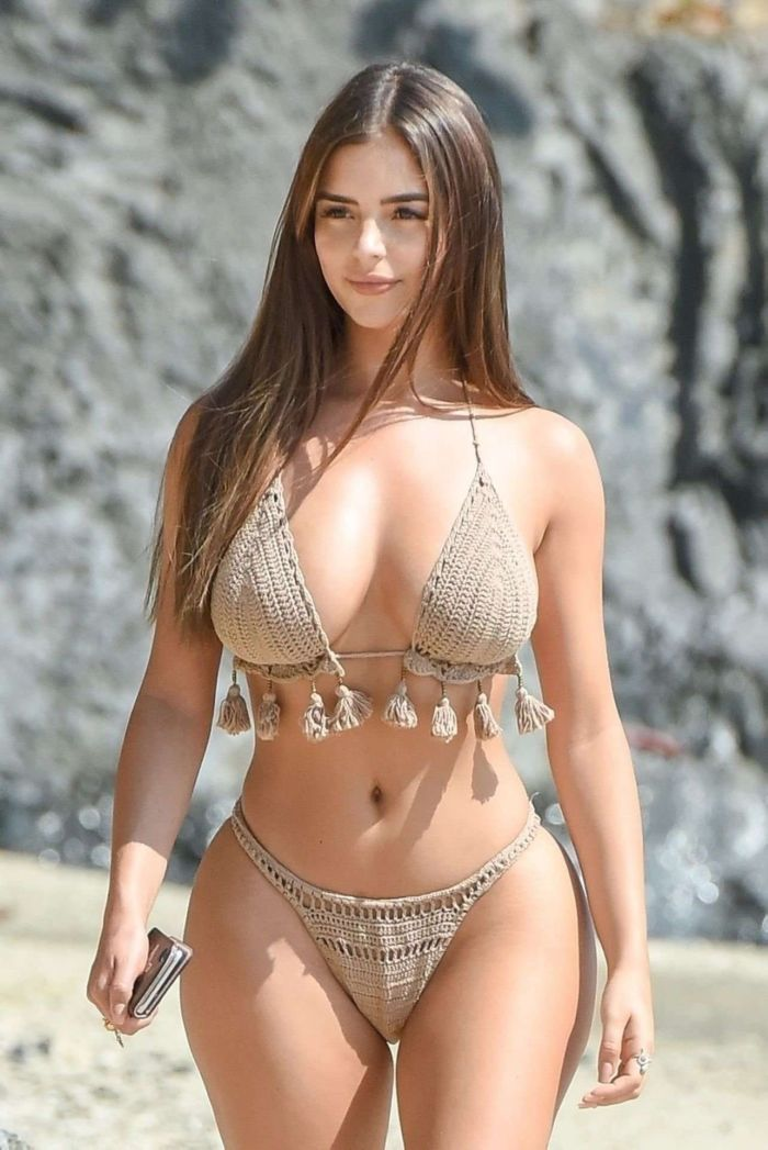 Demi Rose Mawby On A Vacation At A Beach In Phuket