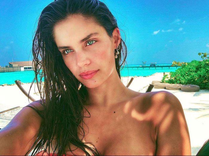 Sara Sampaio Poses For A Bikini Photoshoot In Maldives