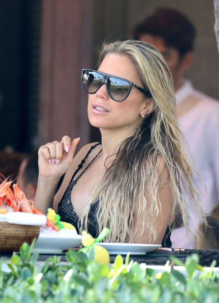 Sylvie Meis On A Bikini Vacation At The Beach In Miami